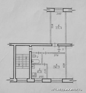 План квартиры на Блюхера